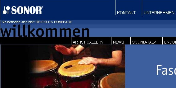 Sonor Official Page (deutsch)